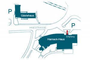 Local map of the Harnack-Haus and guest house © Harnack House of the Max Planck Society